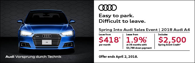 March Audi incentive offer