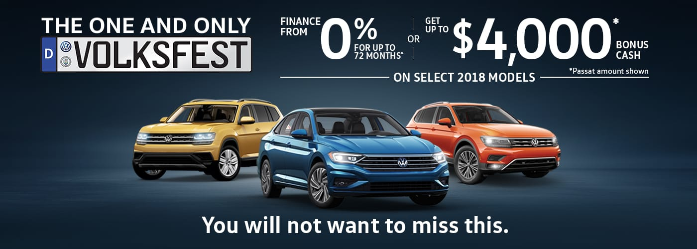 Fall 2018 VW offer